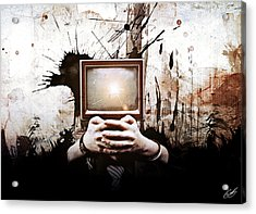 Lost In The Media Acrylic Print by Aj Collyer