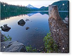 Acrylic Print featuring the photograph Lost Lake Morning 81014b by Todd Kreuter