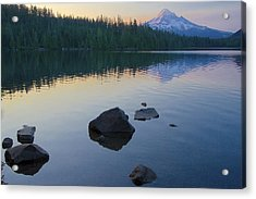 Acrylic Print featuring the photograph Lost Lake Morning 81014c by Todd Kreuter