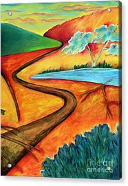 Lost Land 2 Acrylic Print by Elizabeth Fontaine-Barr