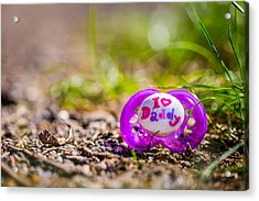 Lost Pacifier. Acrylic Print