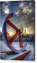Lost Wheel Acrylic Print by Nathan Wright