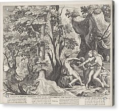Lot And His Daughters, Anonymous, Raphal Sadeler Acrylic Print by Rapha?l Sadeler (i) And Nicolaes Visscher (i)