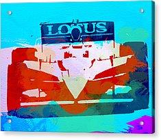 Lotus F1 Racing Acrylic Print by Naxart Studio