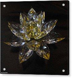Lotus Flower Crystal Acrylic Print by Shan Peck