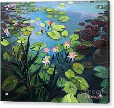 Lotus Flowers  Acrylic Print by Kiril Stanchev