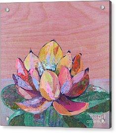 Lotus I Acrylic Print by Shadia Derbyshire