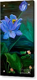 Lotus Acrylic Print by Jenny Lee