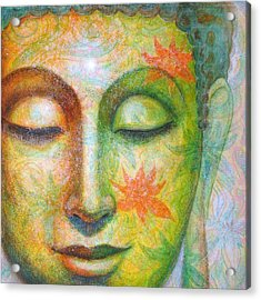 Acrylic Print featuring the painting Lotus Meditation Buddha by Sue Halstenberg
