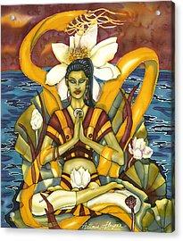 Lotus Pose Acrylic Print