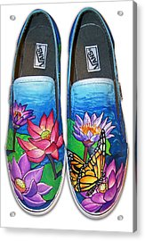 Lotus Shoes Acrylic Print