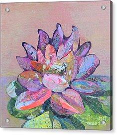 Lotus V Acrylic Print by Shadia Derbyshire