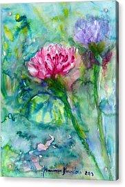 Lotus Acrylic Print by Wanvisa Klawklean