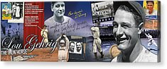 Lou Gehrig Panoramic Acrylic Print by Retro Images Archive