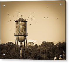 Loudon Water Tower Acrylic Print by Melinda Fawver