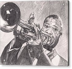 Louie Armstrong Acrylic Print by Beverly Marshall
