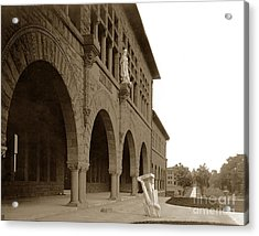Louis Agassiz In The Concrete Most Famous Image Associated With Stanford University 1906 Earthquake Acrylic Print by California Views Mr Pat Hathaway Archives