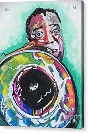 Louis Armstrong Acrylic Print by Chrisann Ellis