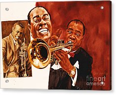 Louis Armstrong Acrylic Print by Dick Bobnick