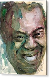 Acrylic Print featuring the painting Louis Armstrong by Laur Iduc