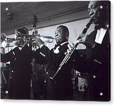 Louis Armstrong Playing With The Band Acrylic Print by Retro Images Archive