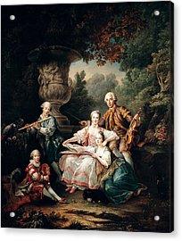 Louis Du Bouchet 1645-1716 Marquis De Sourches And His Family, 1750 Oil On Canvas Acrylic Print