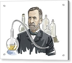 Louis Pasteur Acrylic Print by Harald Ritsch