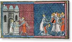 Louis Vii And Emperor Conrad IIi Acrylic Print