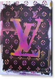 Louis Vuitton Print Acrylic Print by Tony B Conscious