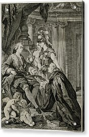 Louis Xv             Accepts Acrylic Print by Mary Evans Picture Library