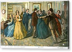 Louisa May Alcottand Her Family Acrylic Print by Granger