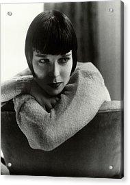 Louise Brooks On A Chair Acrylic Print