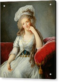 Louise-marie Adelaide, Duchesse Dorleans Oil On Canvas See Also 91622 Acrylic Print