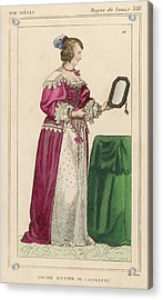 Louise Mottier De La Fayette  French Acrylic Print by Mary Evans Picture Library