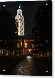 Louisiana State Capitol And Pentagon Barracks Acrylic Print by Andy Crawford