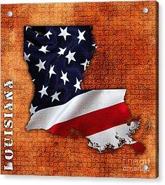 Louisiana American Flag State Map Acrylic Print