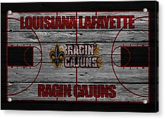 Louisiana Lafayette Ragin Cajuns Acrylic Print by Joe Hamilton