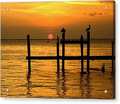 Louisiana Sunset  Acrylic Print