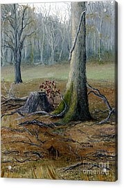 Louisiana Winter Landscape From An Oil Painting Acrylic Print