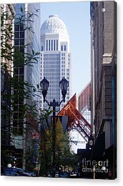 Louisville Buildings 2 Acrylic Print by Jennifer E Doll