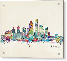 Louisville Kentucky Skyline Acrylic Print by Bri B