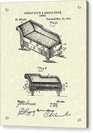 Lounge 1890 Patent Art Acrylic Print by Prior Art Design