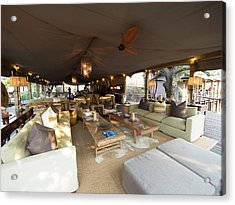 Lounge Area, Toka Leya Camp, Zambezi Acrylic Print by Panoramic Images