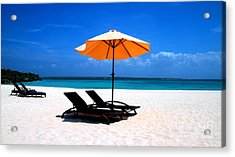 Acrylic Print featuring the photograph Lounging By The Sea by Joey Agbayani