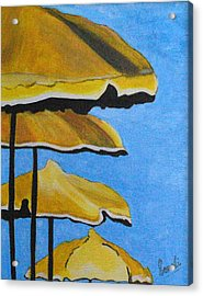 Lounging Under The Umbrellas On A Bright Sunny Day Acrylic Print