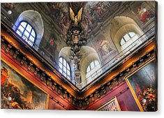 Acrylic Print featuring the photograph Louvre Ceiling by Glenn DiPaola