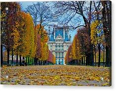 Louvre In Fall Acrylic Print