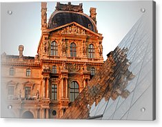 Louvre And Pei Acrylic Print by Jacqueline M Lewis