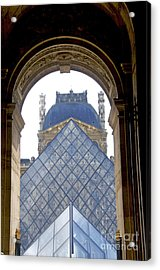 Louvre Palace Museum.paris. France Acrylic Print by Bernard Jaubert