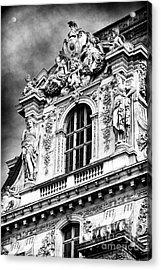 Louvre Palace Window Acrylic Print by John Rizzuto